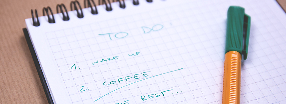 Make a to do list to be Productive